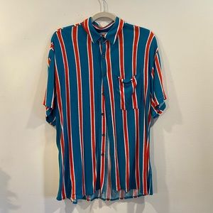 Urban Outfitters Women's Striped Button Down